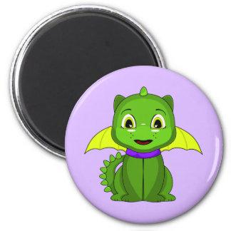 Green And Yellow Chibi Dragon Magnet