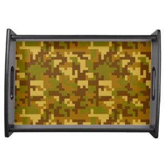 Green and Yellow Desert Army Camo pattern Food Trays
