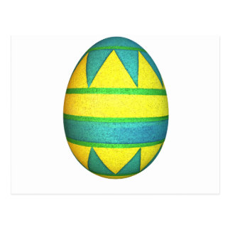 Green and Yellow Dyed Triangle Easter Egg Postcard
