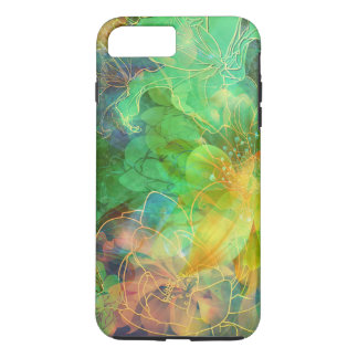 Green And Yellow Floral Collage iPhone 7 Plus Case