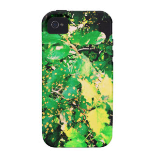 Green And Yellow Leaves Case-Mate iPhone 4 Cases