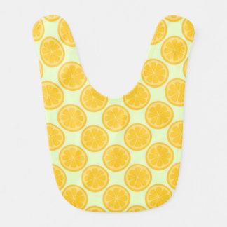 Green and Yellow Lemon Pattern Bib