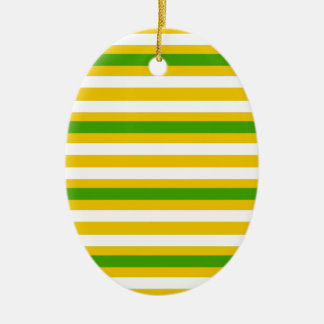 Green and Yellow Look Christmas Ornament