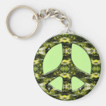 GREEN AND YELLOW MARBLE PEACE SIGN
