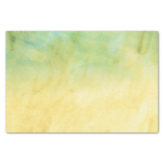 Green and Yellow Marble Watercolor Pattern Tissue Paper