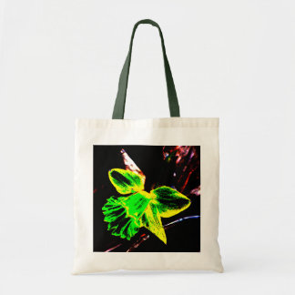 Green and Yellow Neon Daffodil Canvas Bags