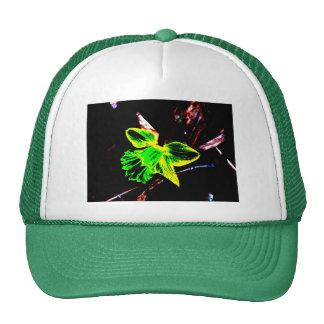 Green and Yellow Neon Daffodil Mesh Hats