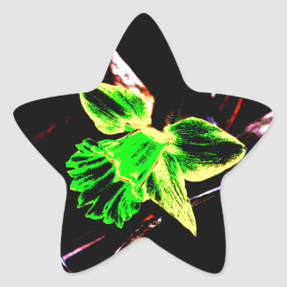 Green and Yellow Neon Daffodil Stickers