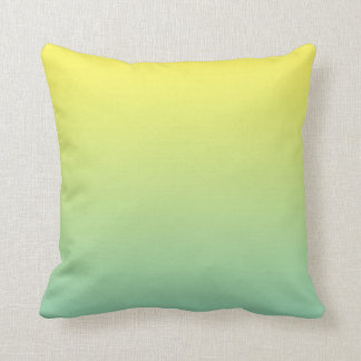 """Green And Yellow Ombre"" Cushion"
