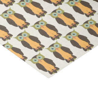 Green and Yellow Owl Tissue Paper