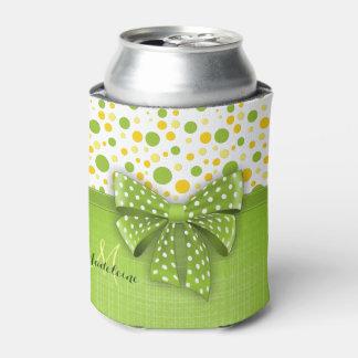 Green and Yellow Polka Dots, Spring Green Ribbon