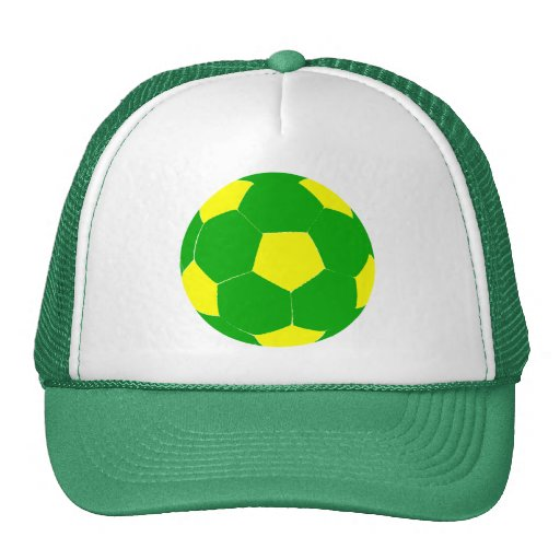 Green and Yellow Soccer Ball Hat