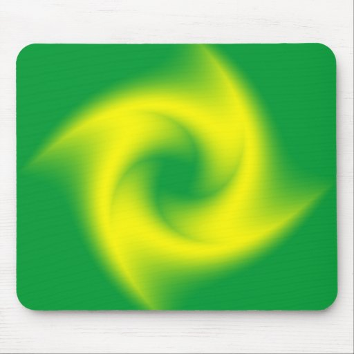 Green and Yellow Spiral with a Twist Mousepad