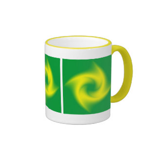 Green and Yellow Spiral with a Twist Mug