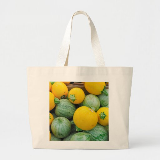 Green And Yellow Squash Canvas Bags