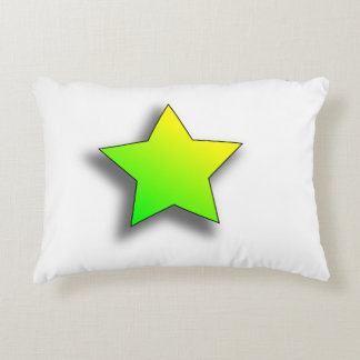 Green and yellow star cushion