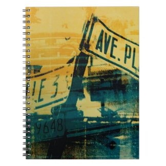 Green and Yellow Street Sign Notebook