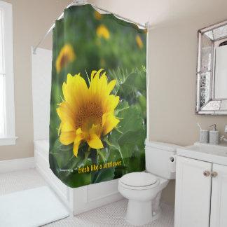 Green and Yellow Sunflower Field Shower Curtain