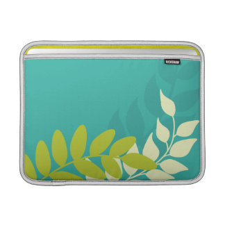 Green and Yellow Vines MacBook Sleeves