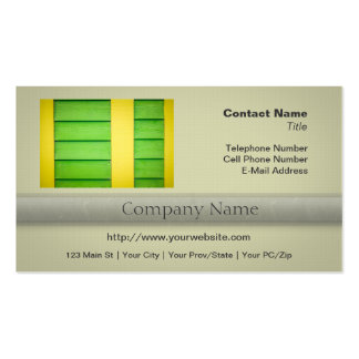 Green and Yellow Wooden Siding Double-Sided Standard Business Cards (Pack Of 100)