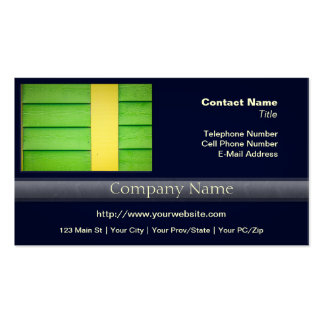 Green and Yellow Wooden Siding Business Card Templates