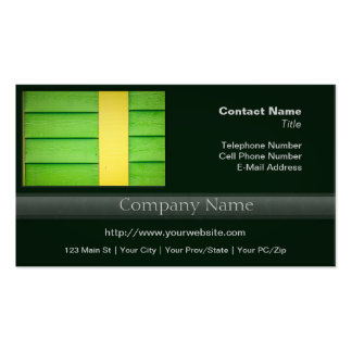 Green and Yellow Wooden Siding Business Card