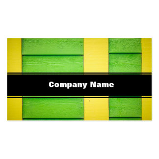 Green and Yellow Wooden Siding Business Card Template