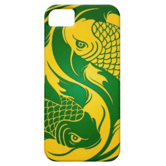 Green and Yellow Yin Yang Koi Fish Case For The iPhone 5