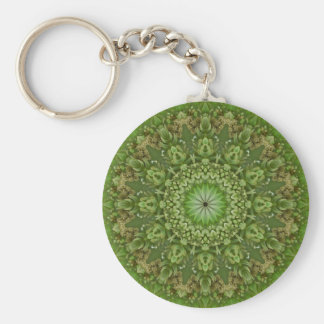 Green Anemone Mandala 7 Key Chain