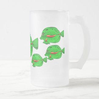Green Angelfish Frosted Cooler  Mug