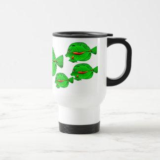 Green Angelfish Traveler Mug