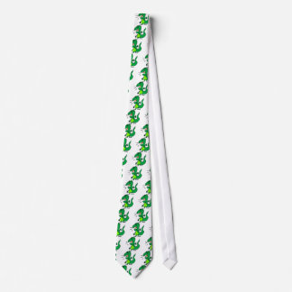 Green Angry Dinosaur Tie