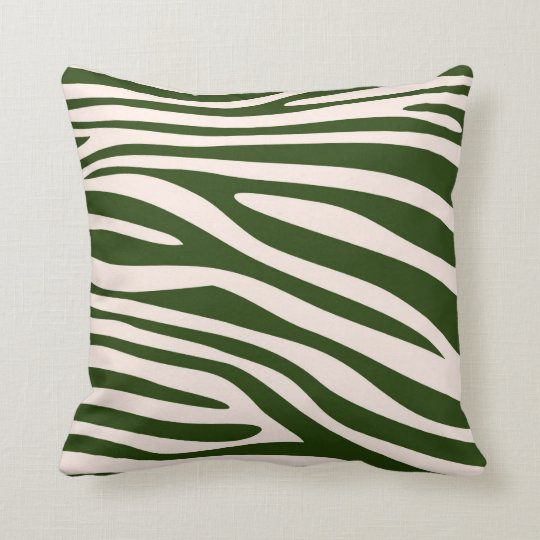 Green Animal print skin of Zebra Cushion