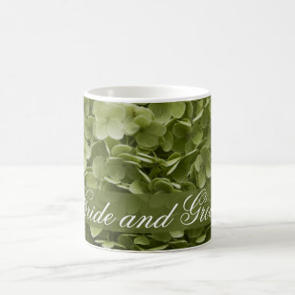 Green Annabelle Hydrangea Floral Wedding Coffee Mug