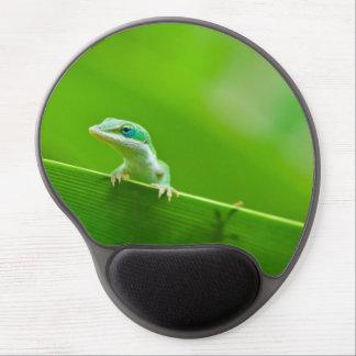 Green Anole Lizard Encounter Gel Mouse Mat