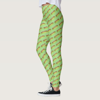 Green Ants on a Log Celery Peanut Butter Raisins Leggings