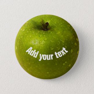 Green apple 6 cm round badge