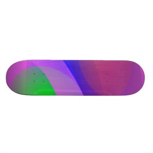 Green Apple and Prune Skate Board Deck