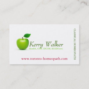 Apple business cards zazzle uk green apple business card colourmoves