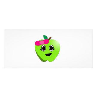 Green apple cartoon full colour rack card