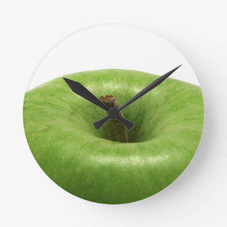 green apple round wall clocks