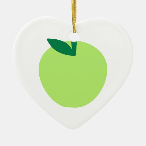 Green apple ornament
