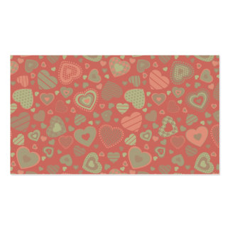 Green Apple Delight - tiny hearts Business Card