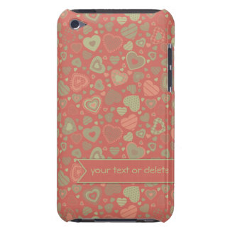 Green Apple Delight - tiny hearts with banner iPod Touch Cover