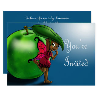 """Green Apple Fair Uzuri Birthday Invitation"" ""7x5"" Card"