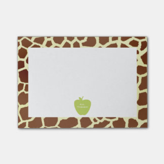 Green Apple Giraffe Teacher Post-it® Notes