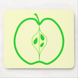 Green Apple Half. Mouse Pad