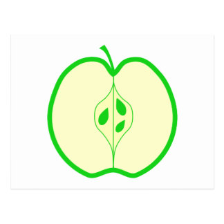 Green Apple Half. Postcard