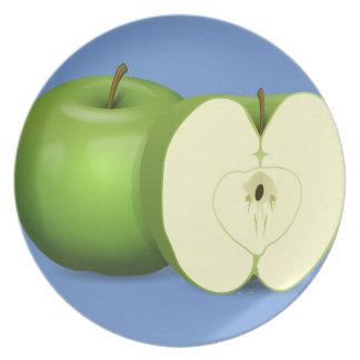 Green apple Melamine Plate