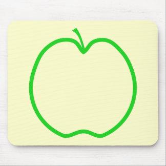 Green Apple Outline Mousepad
